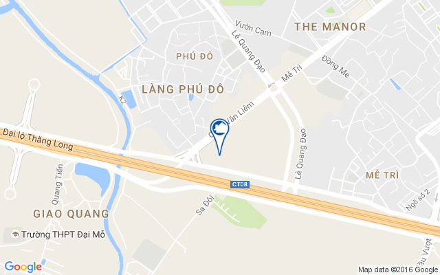 vi tri du an my dinh pearl tren google map