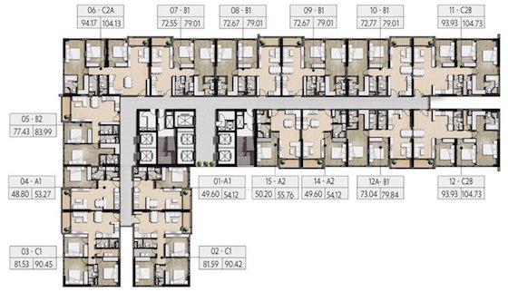 Mặt băng tầng 3 - 32 chung cư Mỹ Đình Pearl